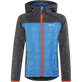 Meru Prag Knitted Fleece & Padding Jacket Kids Carbon/Azure